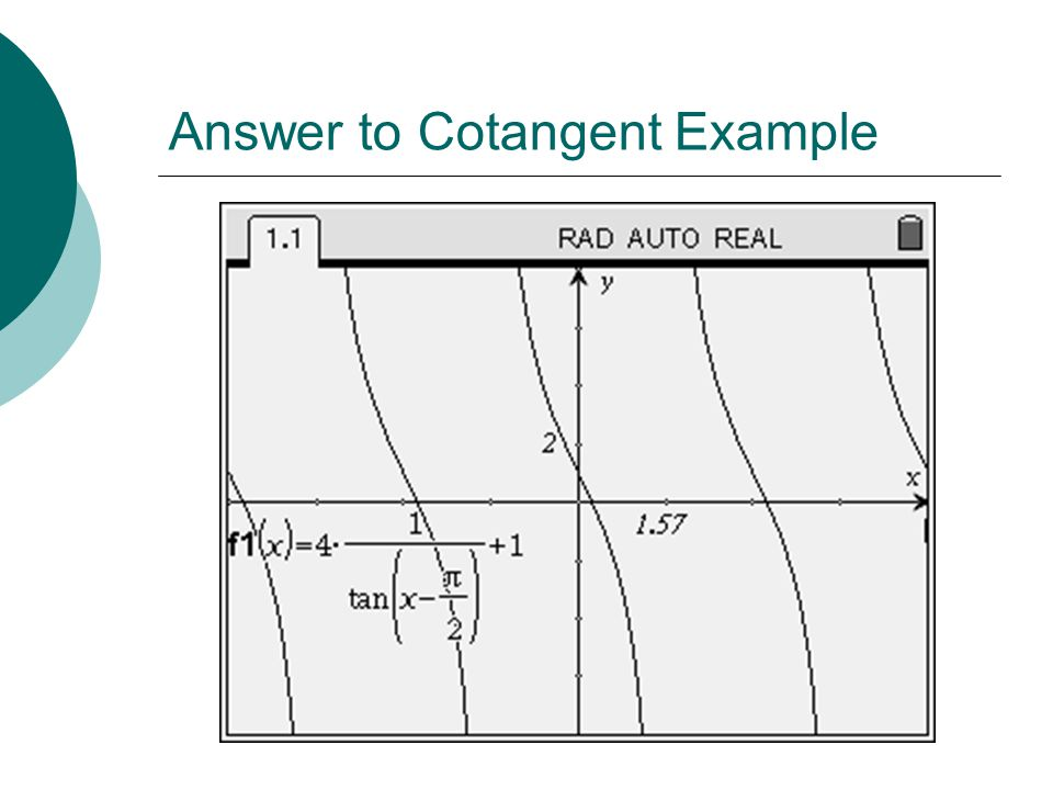 Answer to Cotangent Example