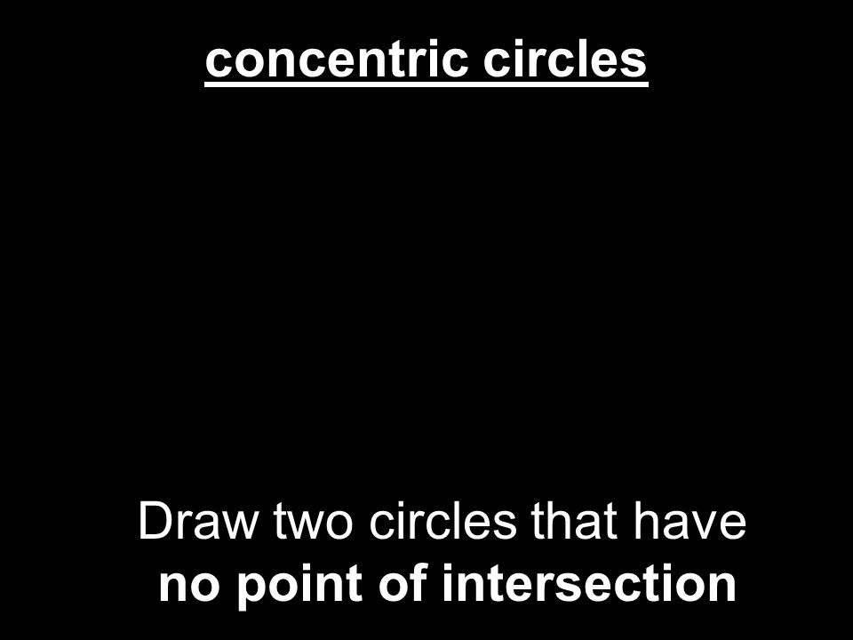 no point of intersection