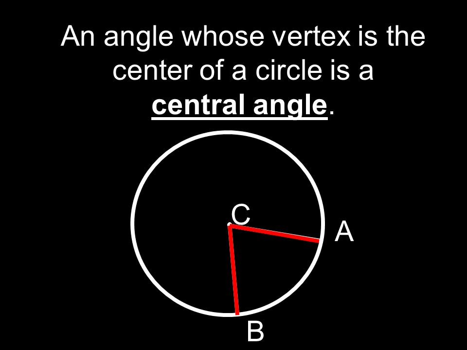 An angle whose vertex is the center of a circle is a