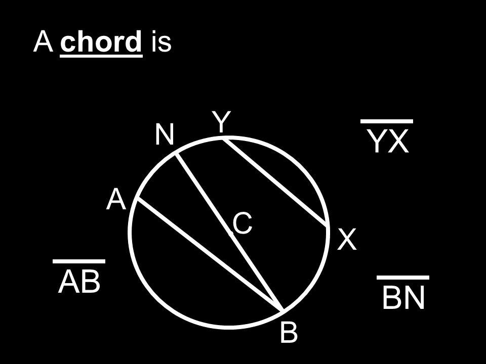 A chord is X Y N YX C A B AB BN
