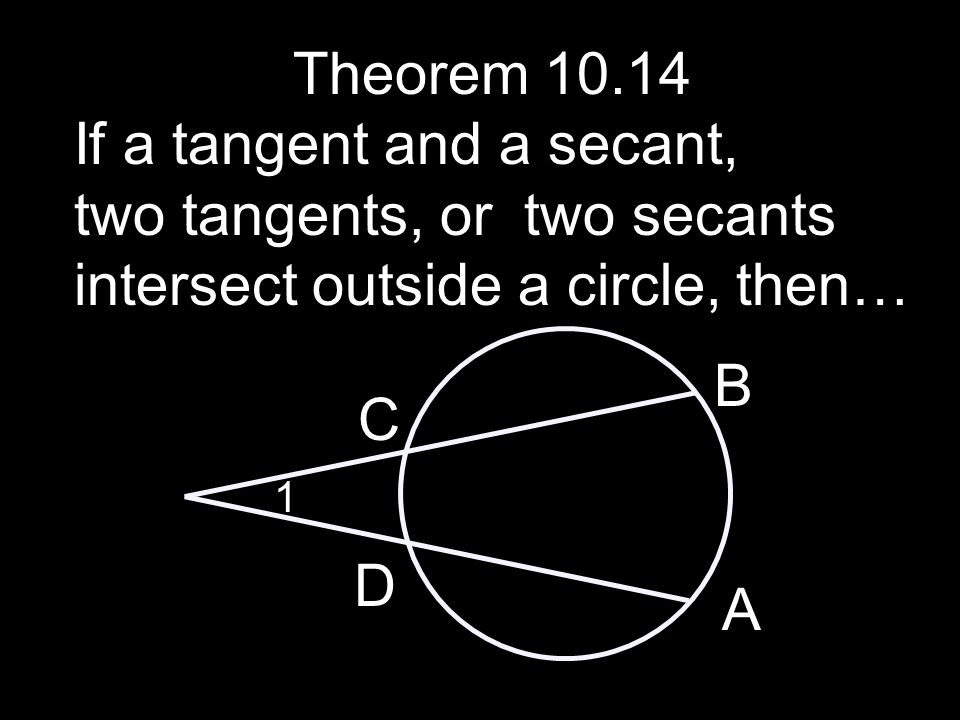 If a tangent and a secant,