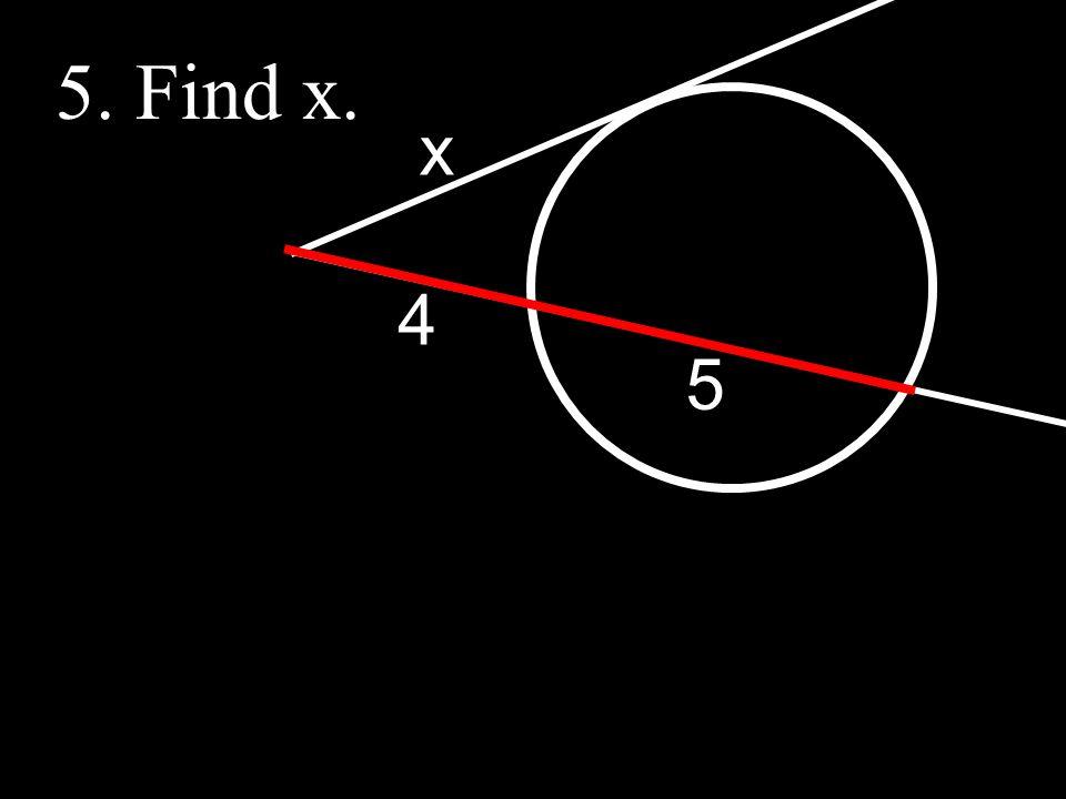5 4 x 5. Find x.