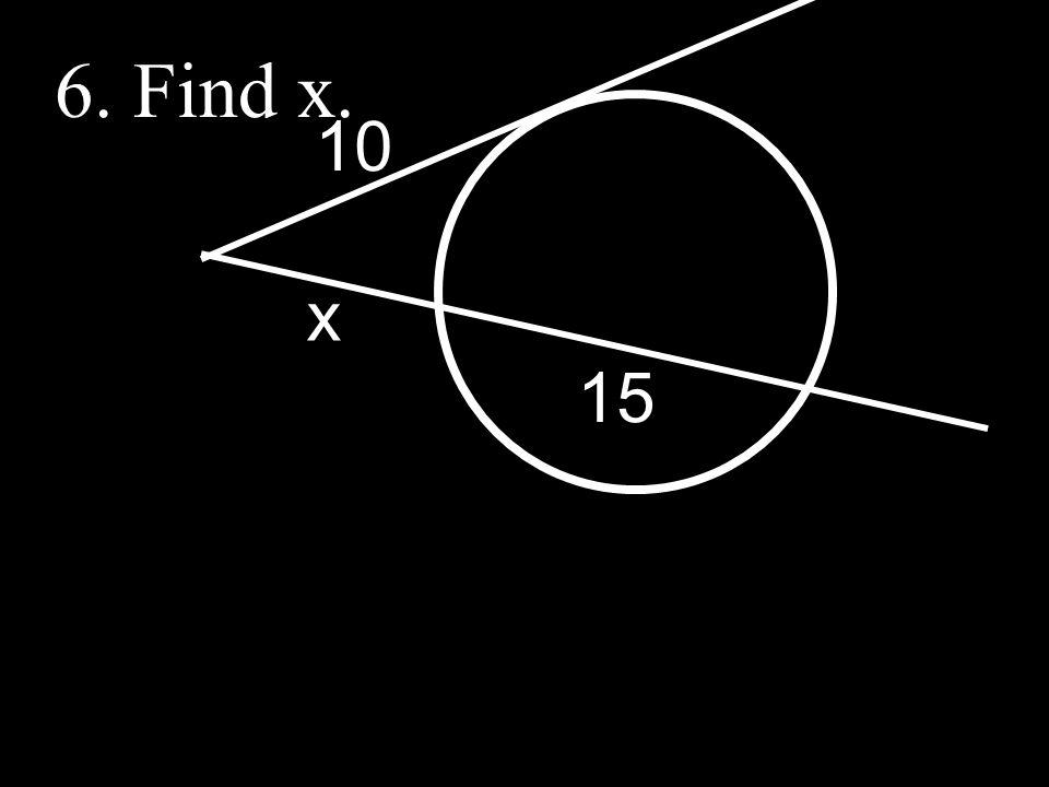 15 x 10 6. Find x.