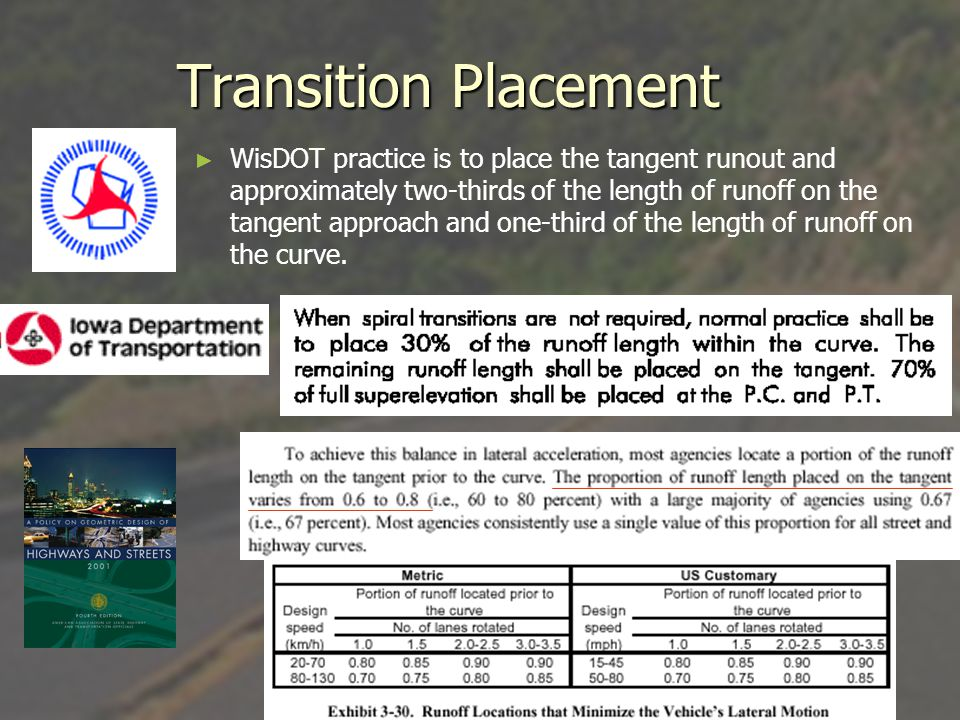 Transition Placement