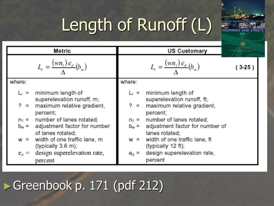 Length of Runoff (L) Greenbook p. 171 (pdf 212)