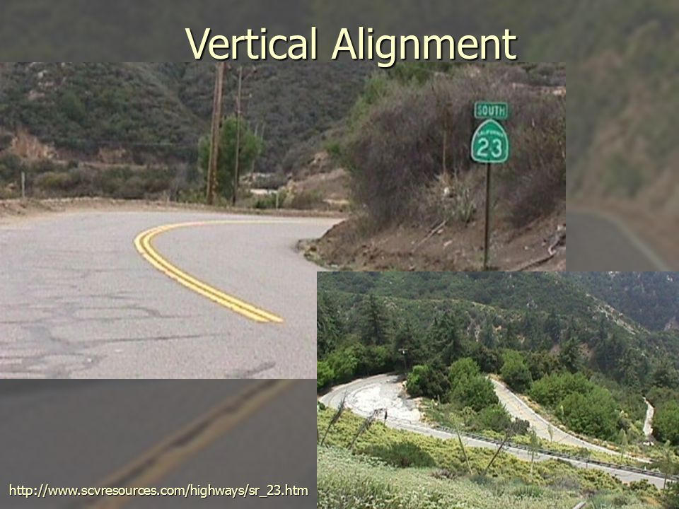 Vertical Alignment http://www.scvresources.com/highways/sr_23.htm