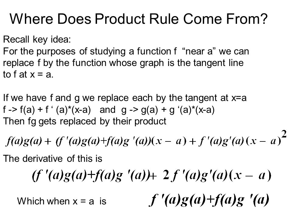 Where Does Product Rule Come From