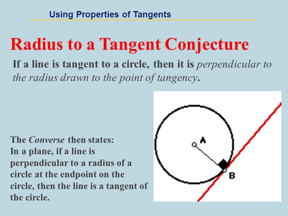 Radius to a Tangent Conjecture