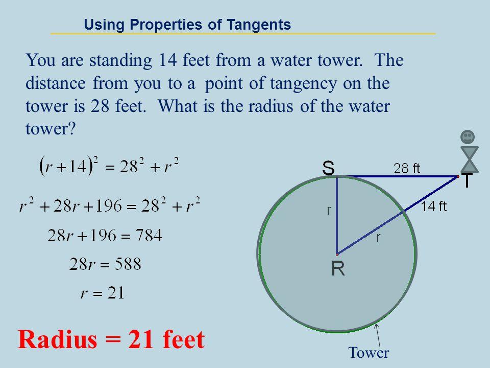Using Properties of Tangents