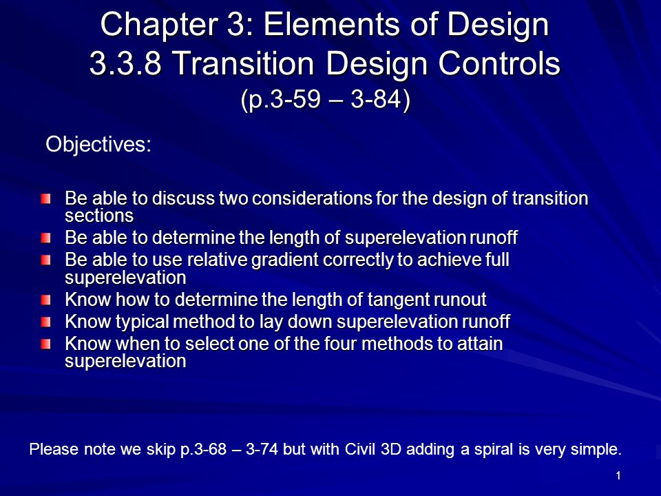 Chapter 3: Elements of Design 3. 3. 8 Transition Design Controls (p