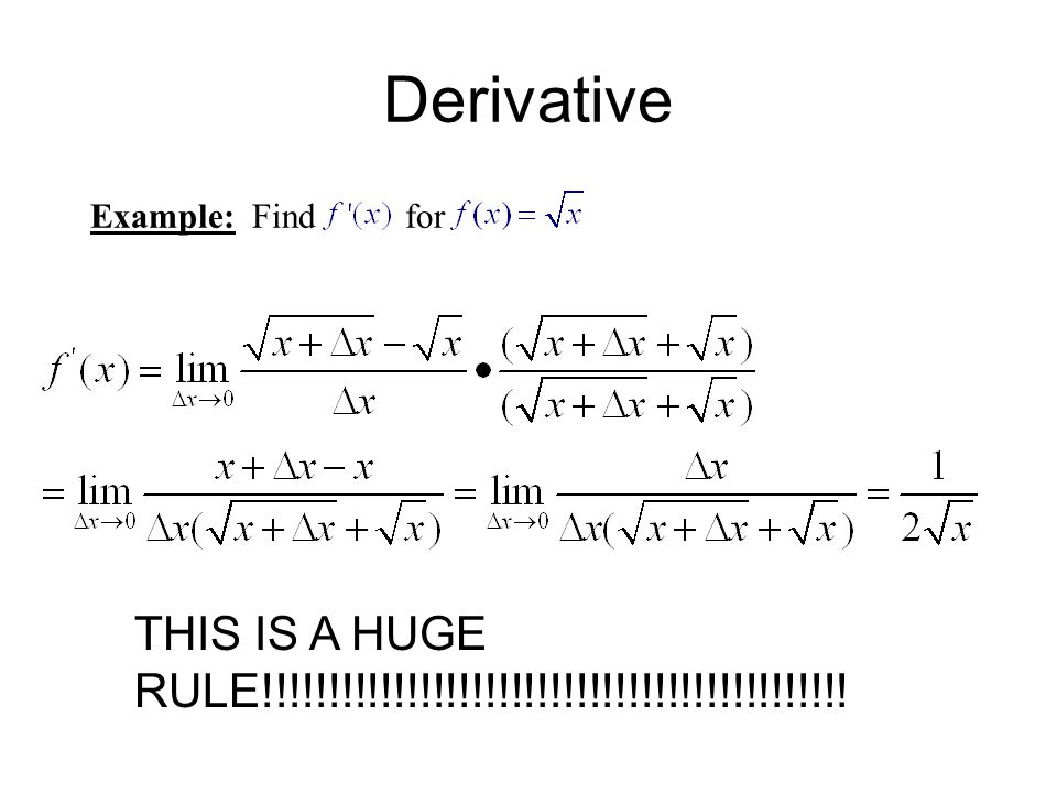 Derivative Example: Find for.