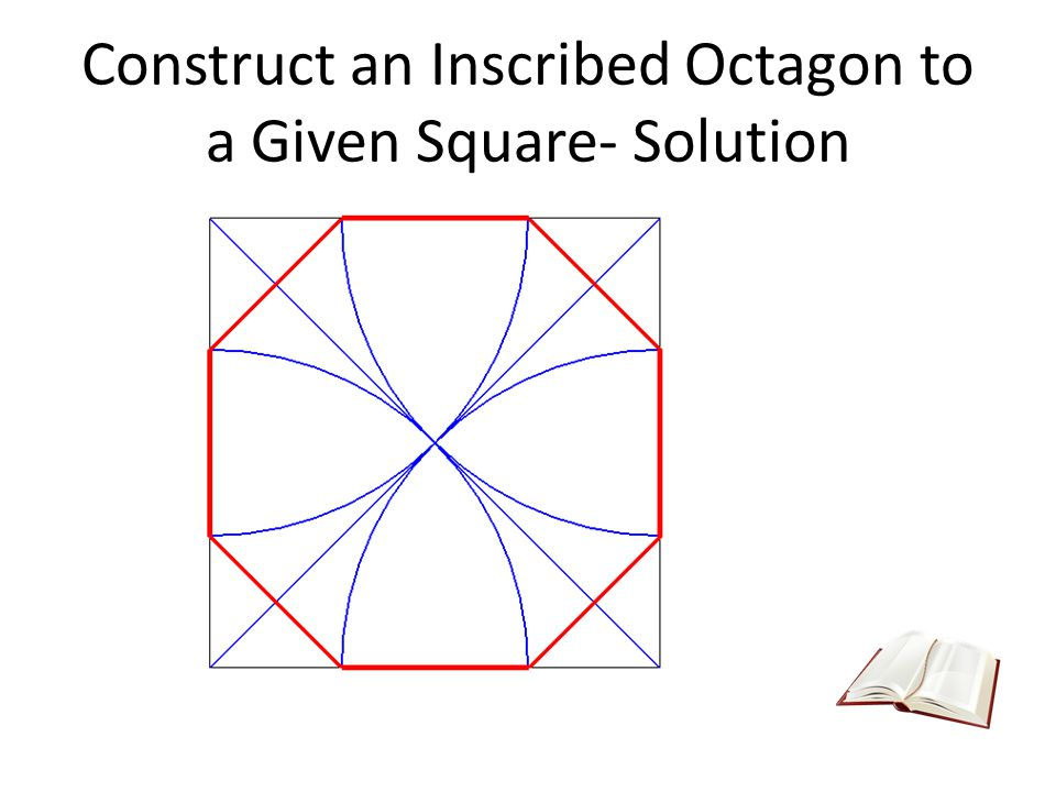 Construct an Inscribed Octagon to a Given Square- Solution