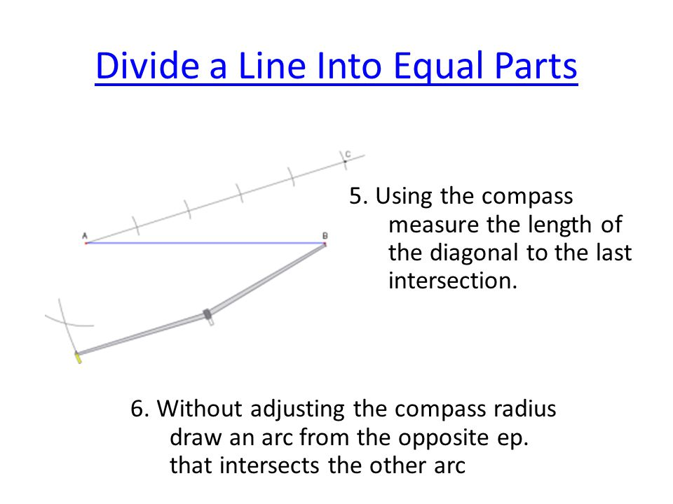 Divide a Line Into Equal Parts