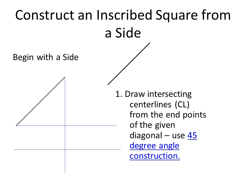 Construct an Inscribed Square from a Side