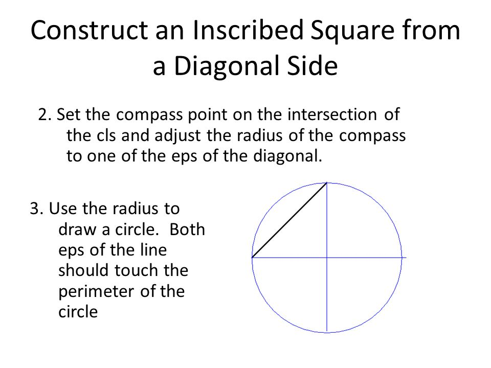 Construct an Inscribed Square from a Diagonal Side