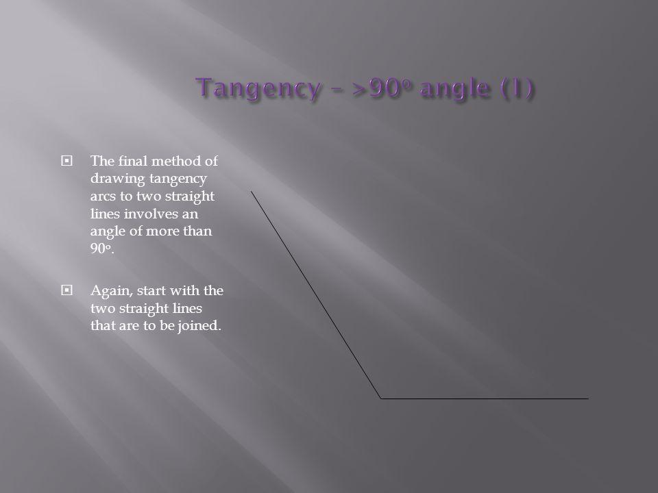 Tangency – >90o angle (1)