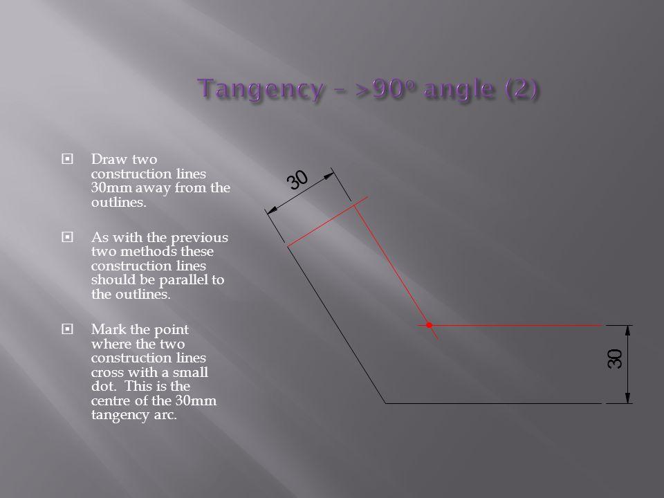 Tangency – >90o angle (2)