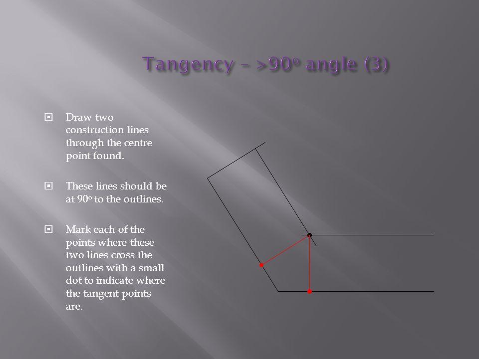 Tangency – >90o angle (3)
