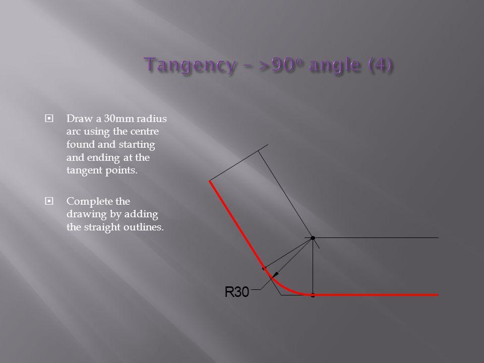 Tangency – >90o angle (4)