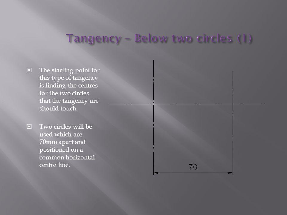 Tangency – Below two circles (1)