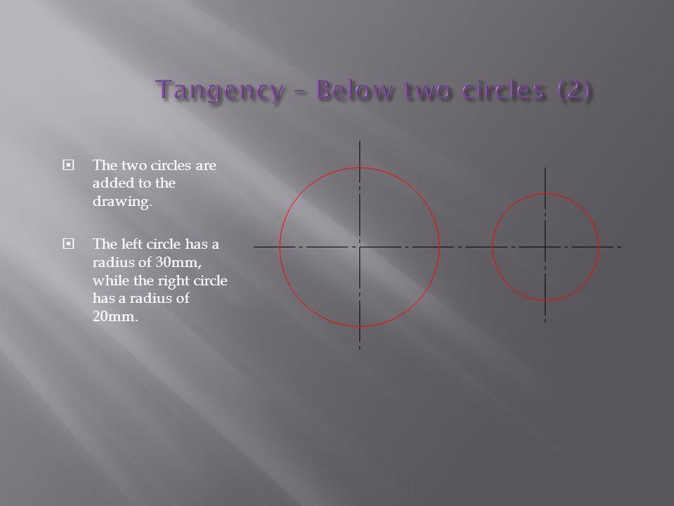 Tangency – Below two circles (2)
