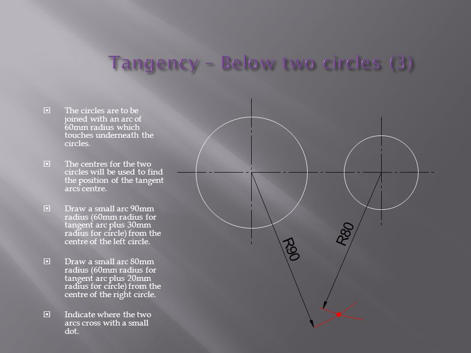 Tangency – Below two circles (3)