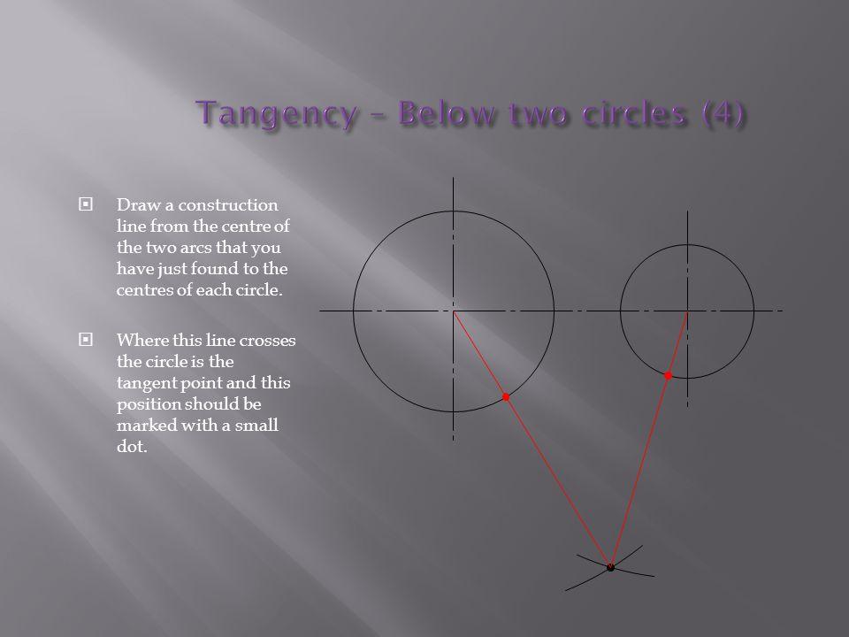 Tangency – Below two circles (4)