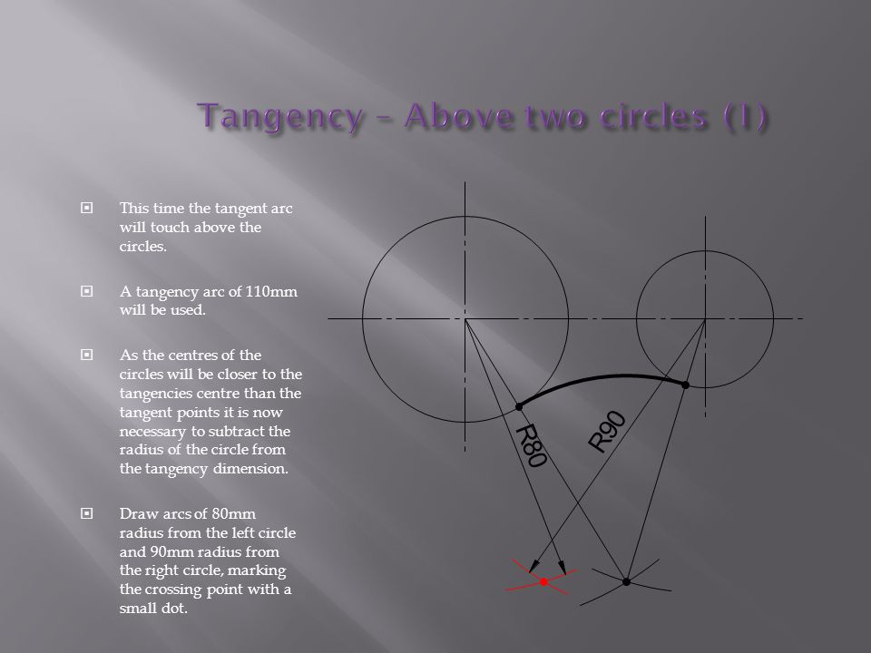 Tangency – Above two circles (1)