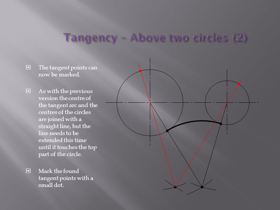 Tangency – Above two circles (2)