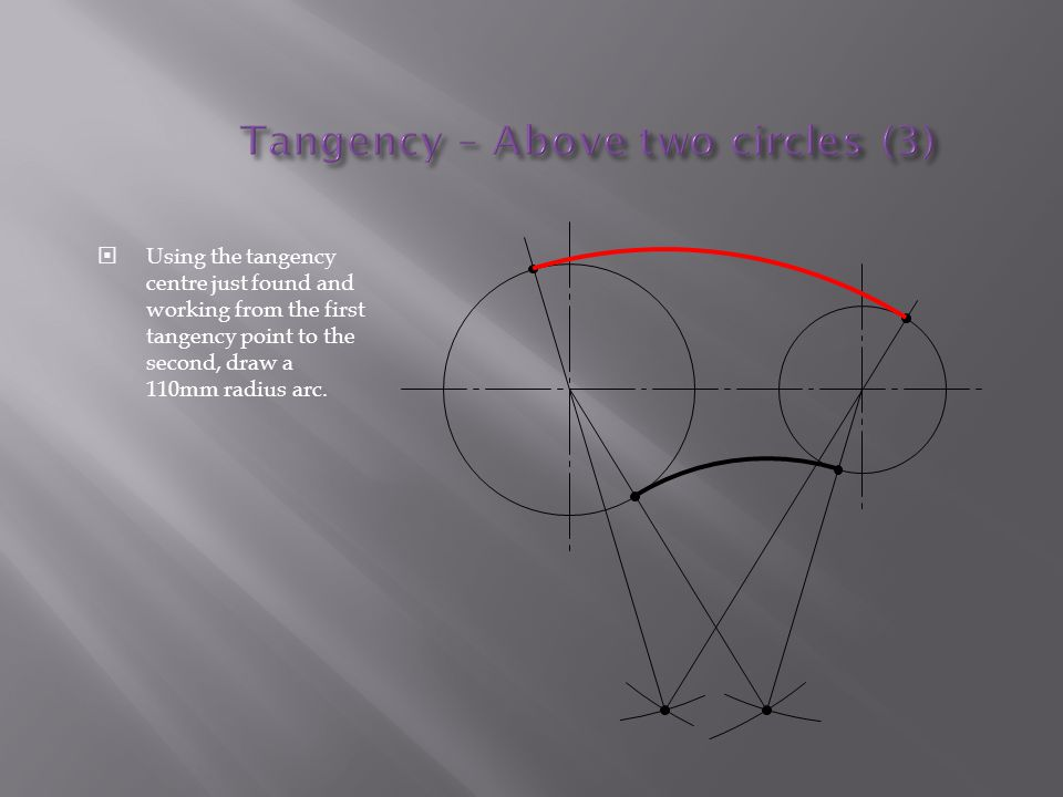 Tangency – Above two circles (3)