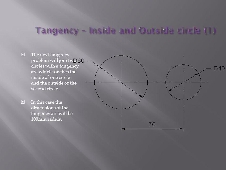 Tangency – Inside and Outside circle (1)