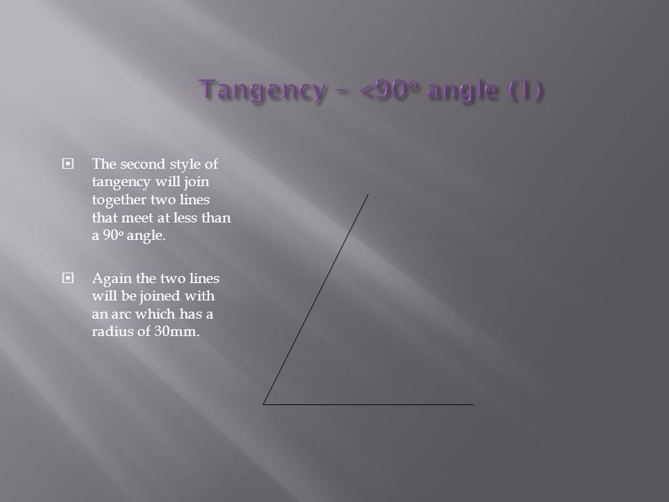 Tangency – <90o angle (1)