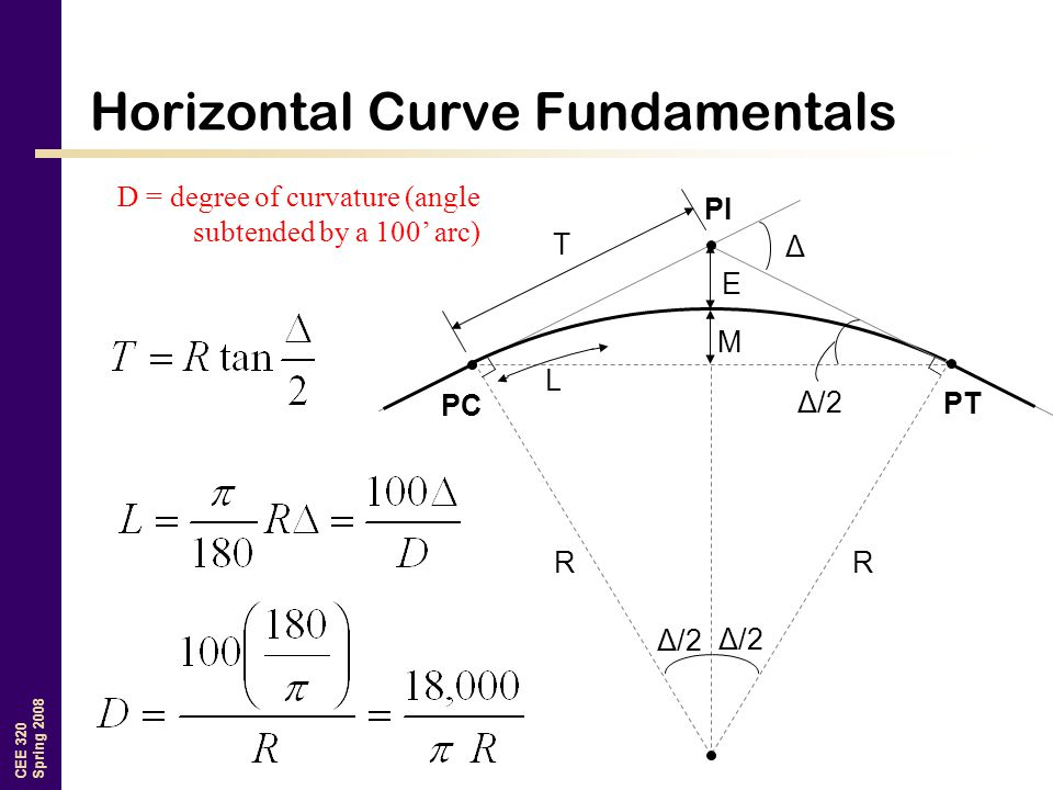 Horizontal Curve Fundamentals