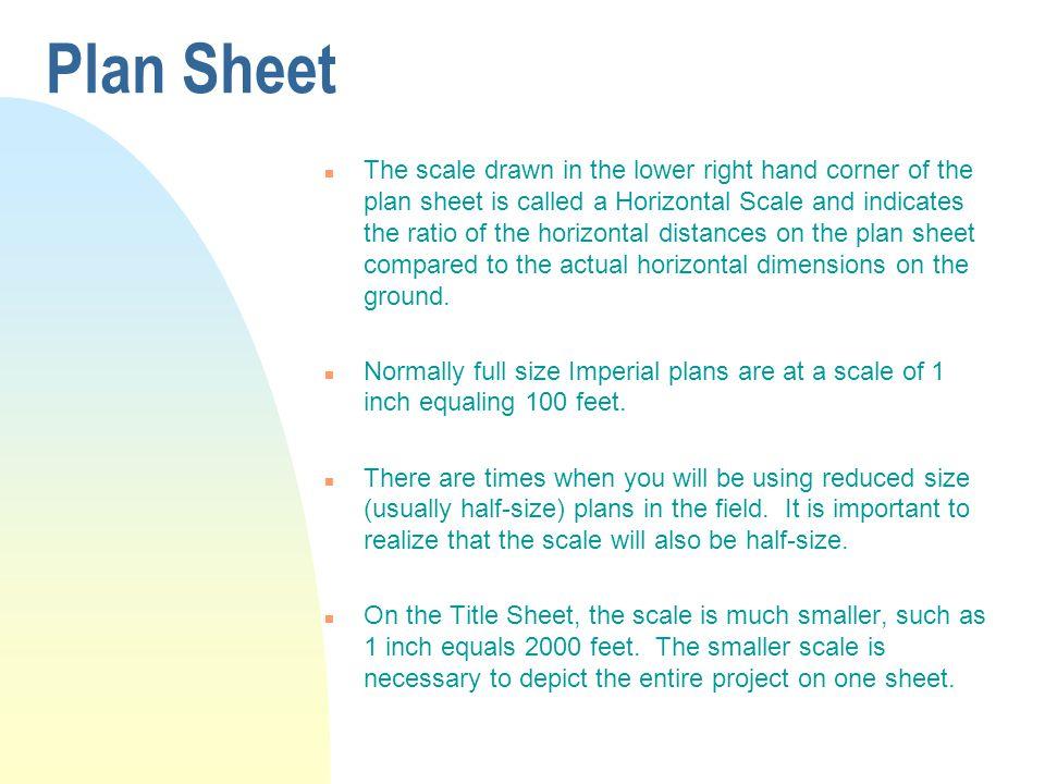 Plan Sheet