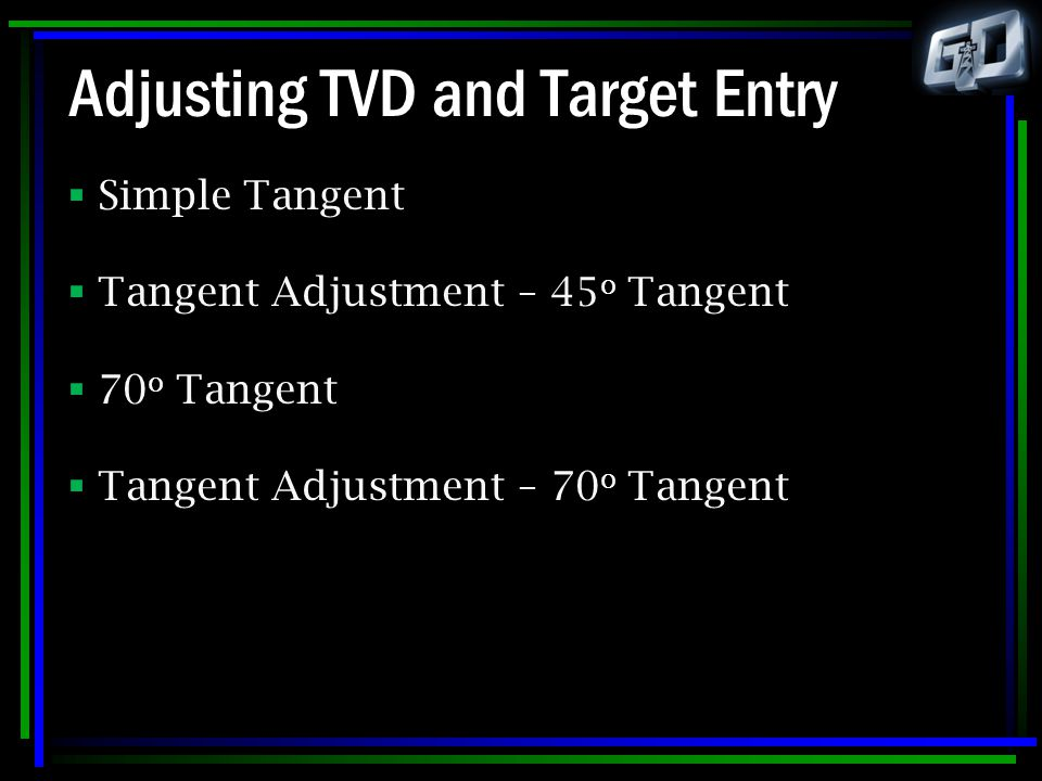 Adjusting TVD and Target Entry