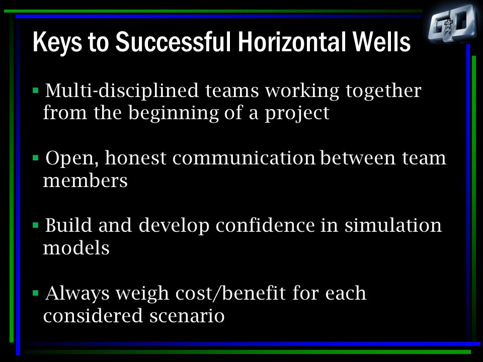 Keys to Successful Horizontal Wells
