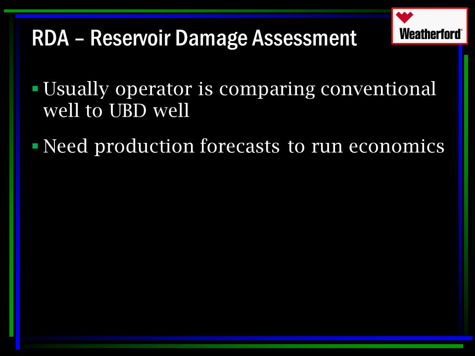 RDA – Reservoir Damage Assessment