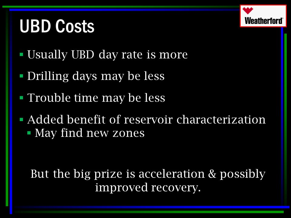 But the big prize is acceleration & possibly improved recovery.