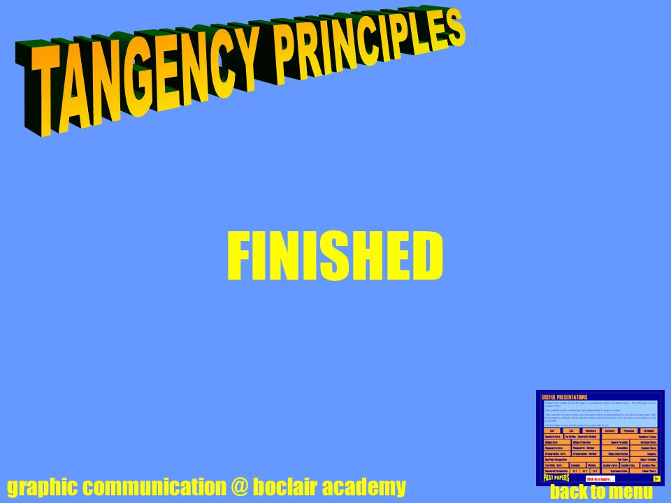 FINISHED TANGENCY PRINCIPLES graphic communication @ boclair academy