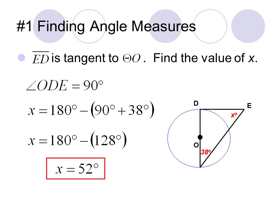 #1 Finding Angle Measures