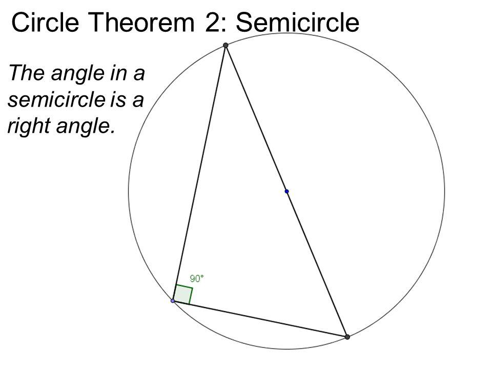 Circle Theorem 2: Semicircle