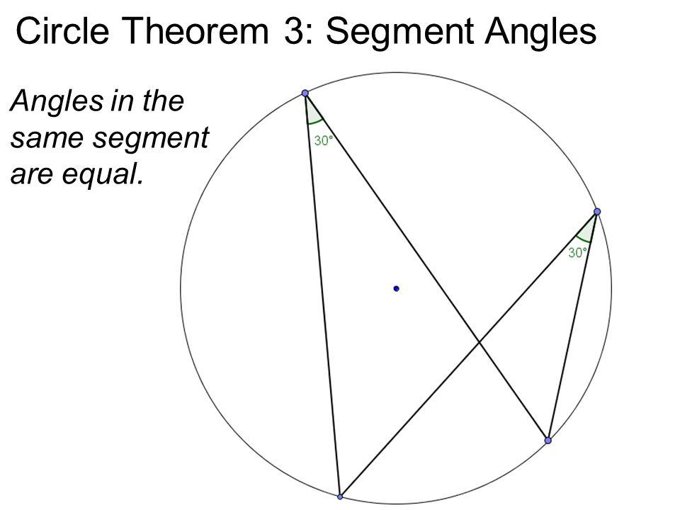 Circle Theorem 3: Segment Angles