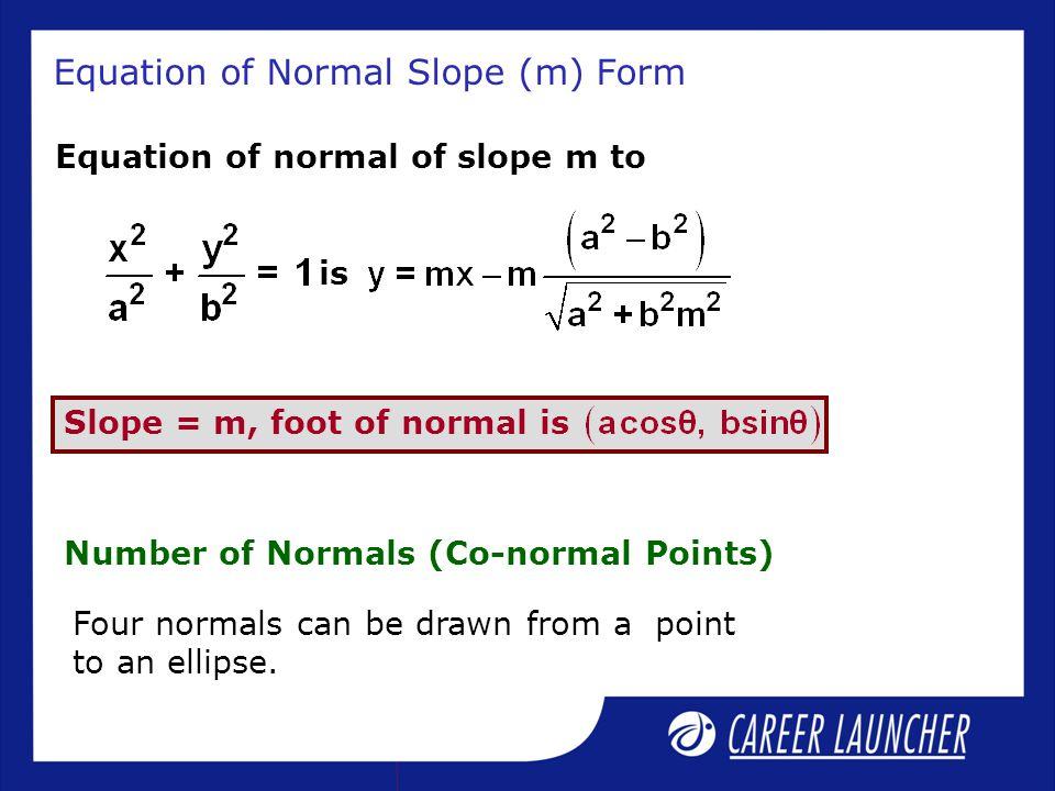 Equation of Normal Slope (m) Form