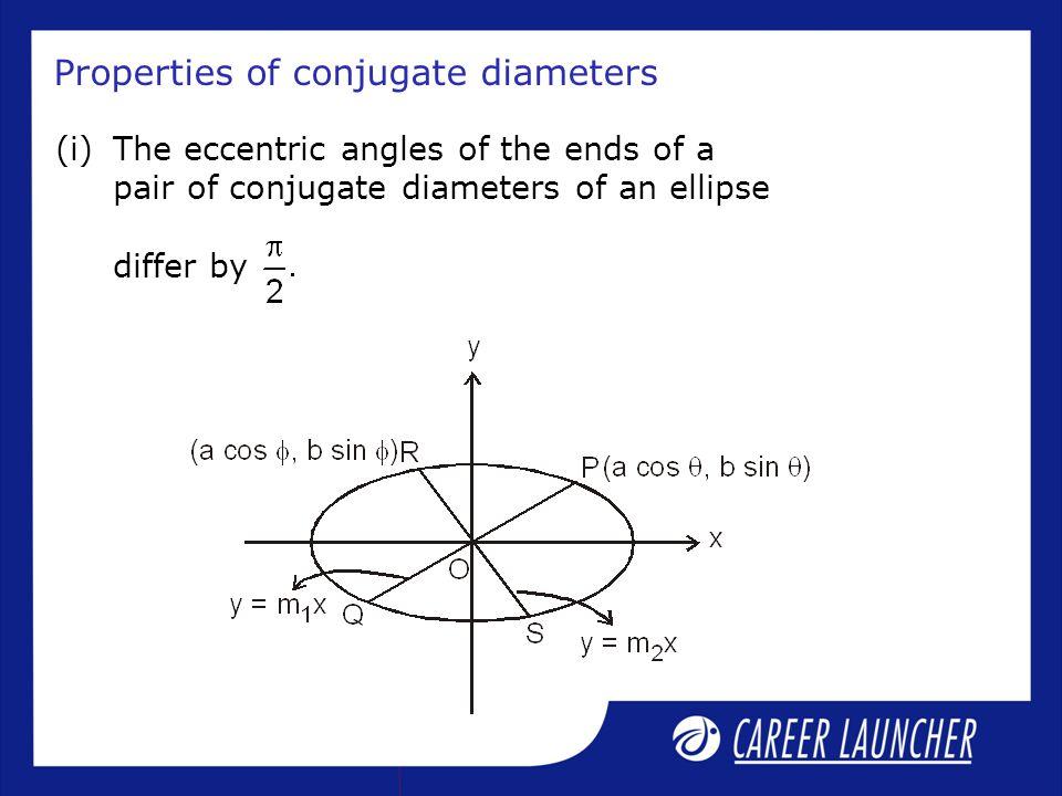 Properties of conjugate diameters