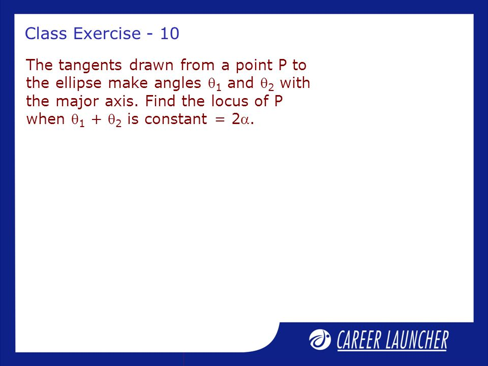 Class Exercise - 10