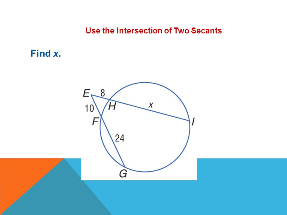 Use the Intersection of Two Secants