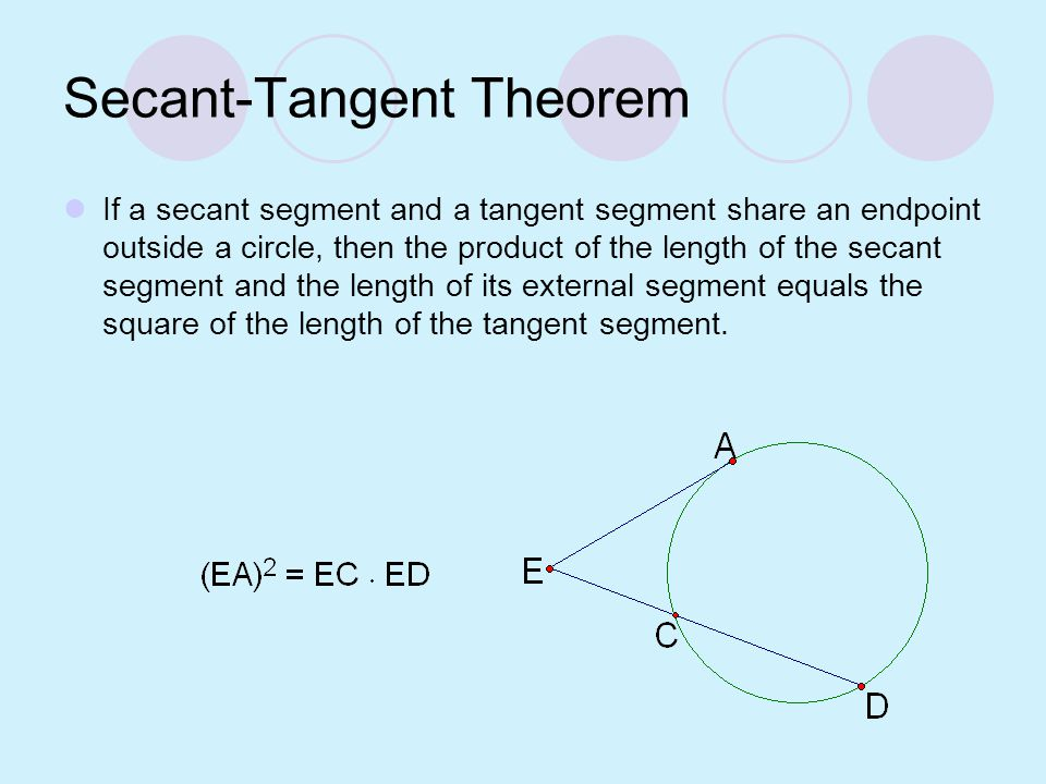 Secant-Tangent Theorem