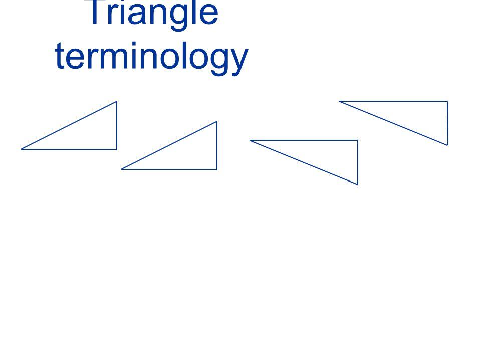 Triangle terminology