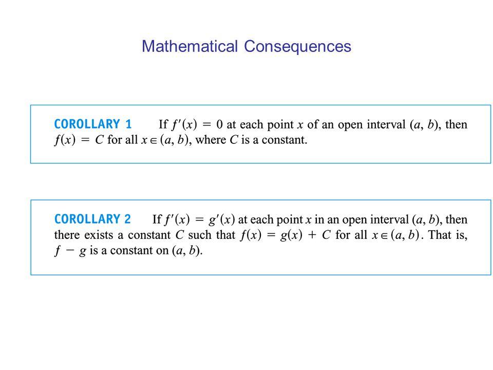Mathematical Consequences