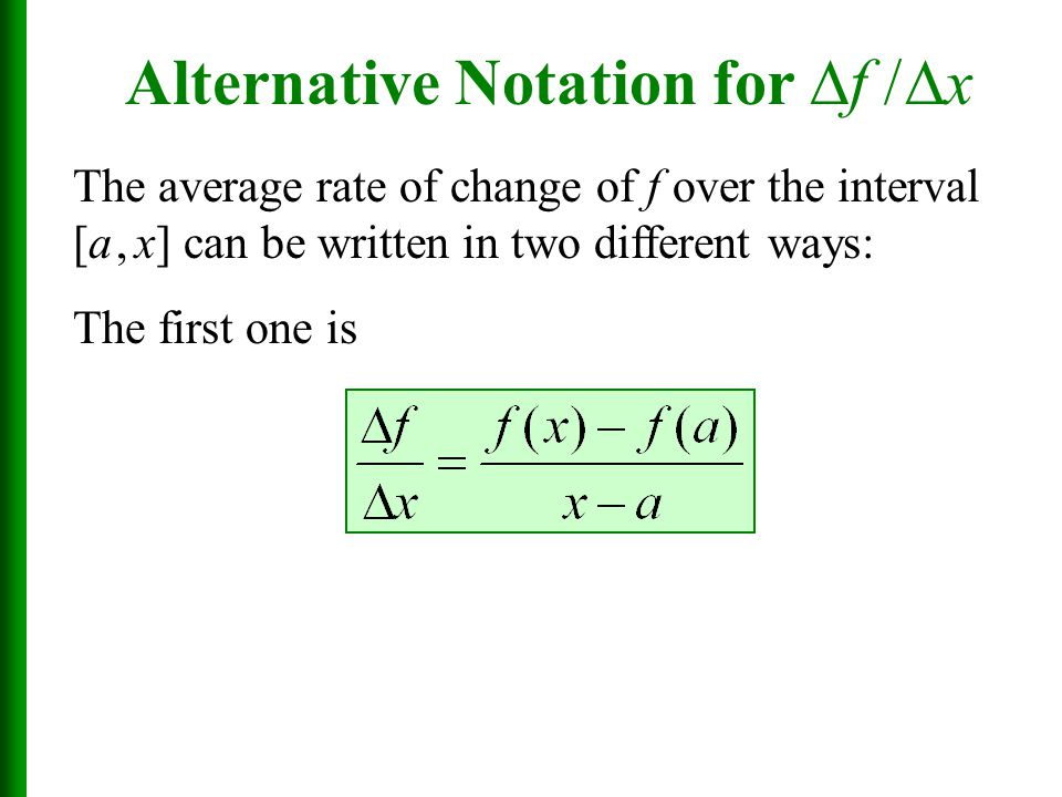 Alternative Notation for f / x